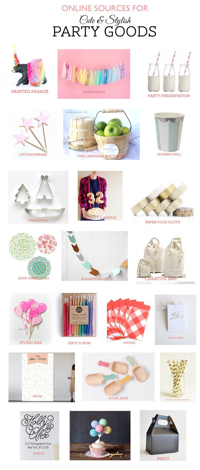 onlines source cute stylish party goods | Rambling Renovators