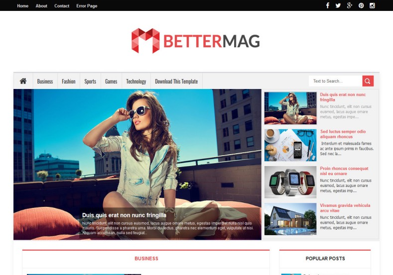 Better mag blogger template high quality free blogger templates better mag blogger template fbccfo Gallery