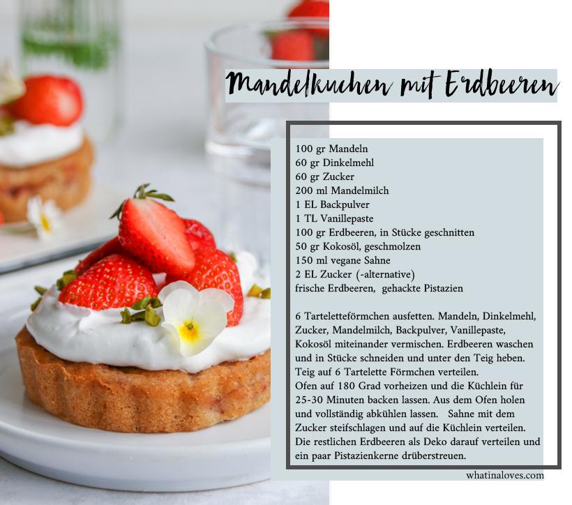 Erdbeer-Mandel-Küchlein mit Erdbeeren