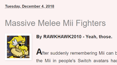 RawkHawk2010 Massive Melee Mii Fighters