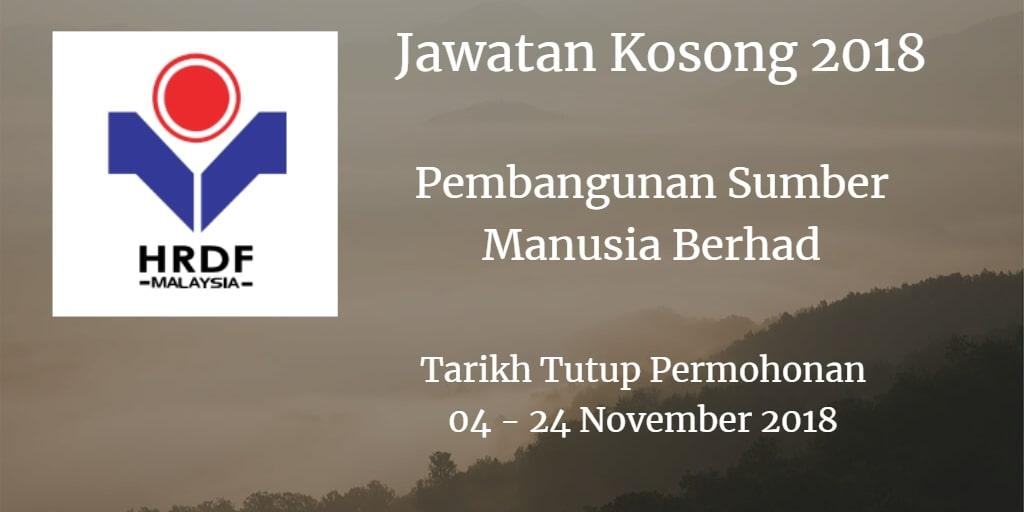 Jawatan Kosong HRDF 04 - 24 November 2018