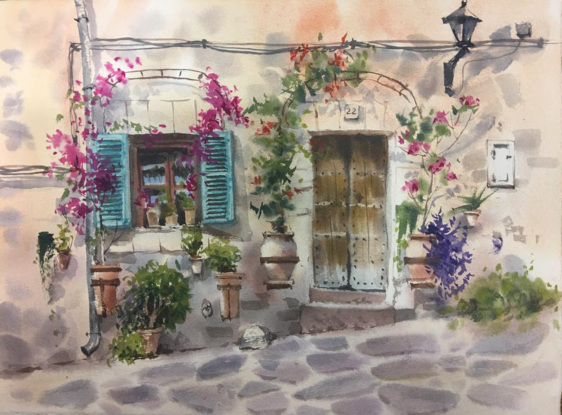 Watercolor Paintings by Elena Vlasova from Moscow, Russia.