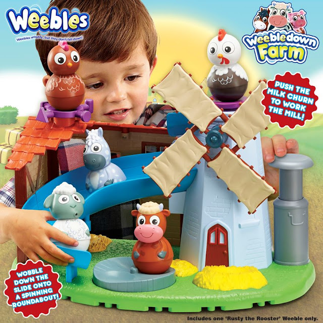 wobbly farm, mill and barn, weebles