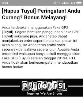 """PUTUS MITRA BAGI PENGGUNA FAKE GPS """"TUYUL"""""""