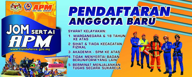 Permohonan Sukarelawan Pertahanan Awam Malaysia (APM) 2018 Online