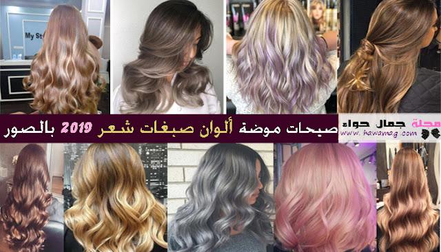 ألوان صبغات شعر 2019