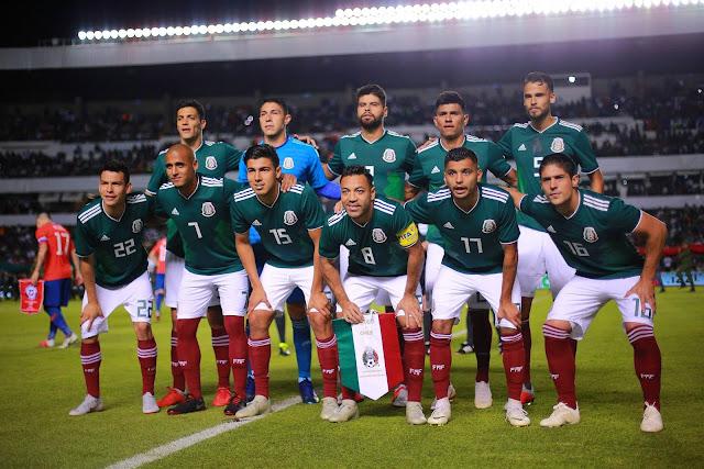 Formación de México ante Chile, amistoso disputado el 16 de octubre de 2018