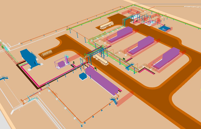 3-D Model Attribute: The design of the new high-pressure compressor facility of Moveyeid Gas Storage Project