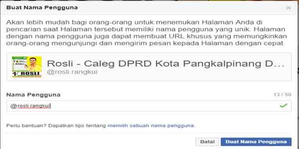 url singkat nama fanpage halaman fb