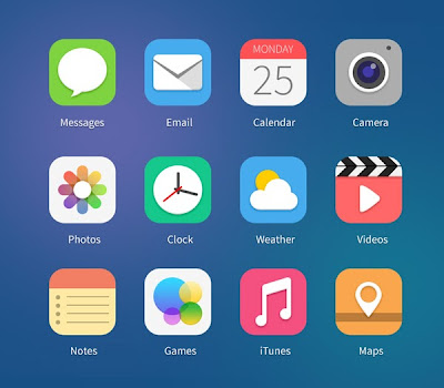 21 iOS7 Icon Concepts Vol.1 (PSD & PNG)