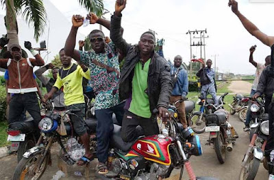 Okada Riders Protest Alleged Extortion In Ogun Community