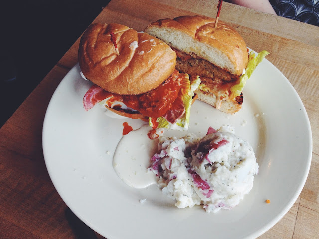 Vegan Buffalo Chicken Sandwich at The Butcher's Son (Vegan deli in Berkeley)