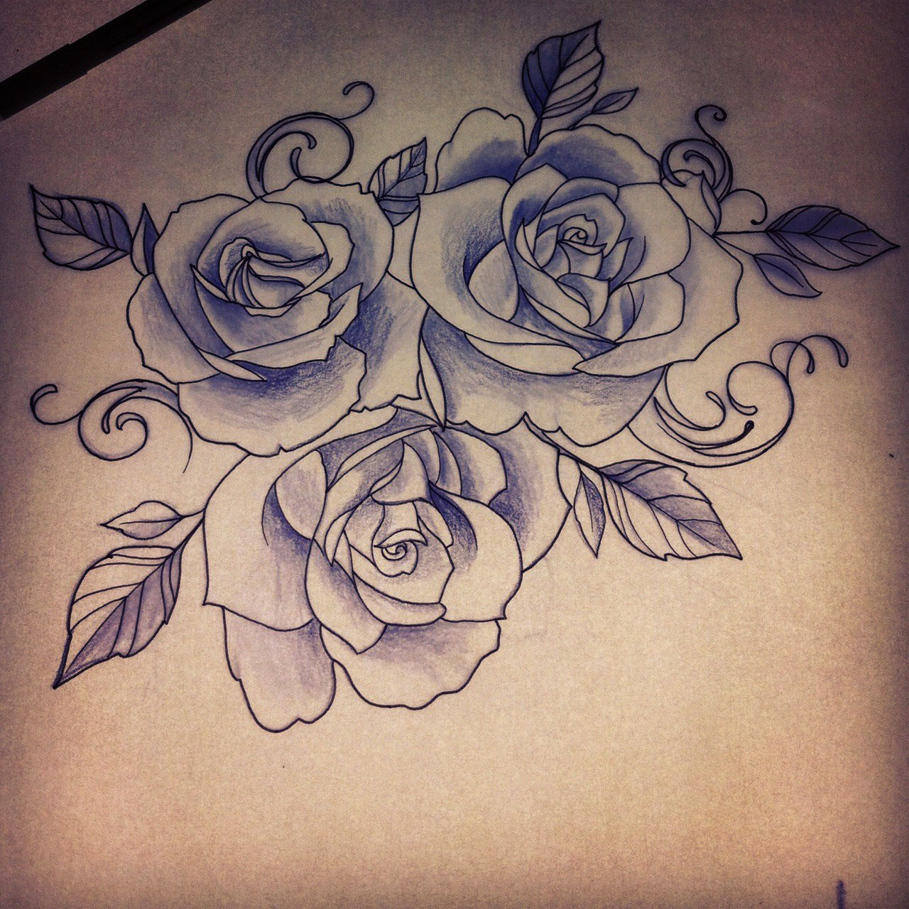 rose drawing tattoo 21