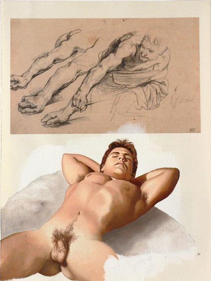 Gay male erotic art