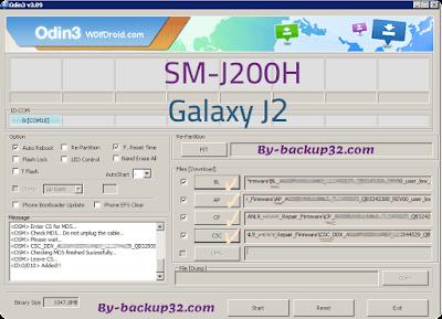 سوفت وير هاتف Galaxy J2 Duos موديل SM-J200H روم الاصلاح 4 ملفات تحميل مباشر