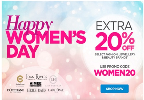 The Shopping Channel Women's Day Flash Sale 20% Off Promo Code