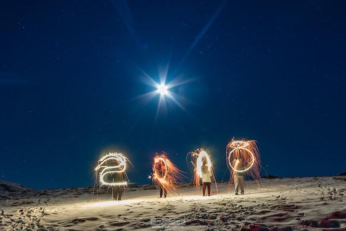 Mặt Trăng tròn chào đón năm mới 2018. Hình ảnh: Stojan Stojanovski.