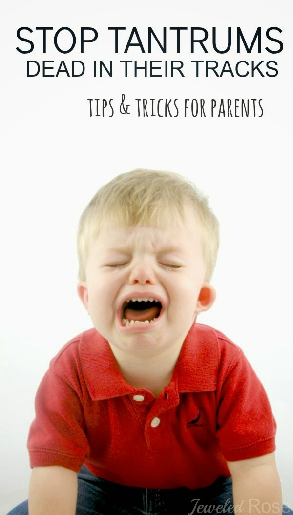 10 ways to stop a tantrum- very helpful!