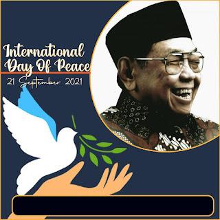 twibbon hari perdamaian dunia 2021 - international day of peace - kanalmu
