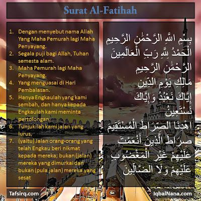 al Fatihah surah surat