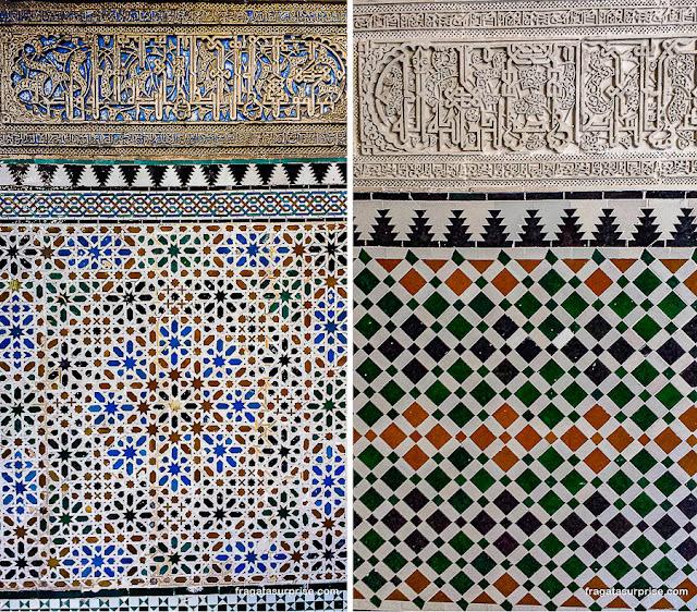 Azulejos decorativos no Real Alcázar de Sevilha
