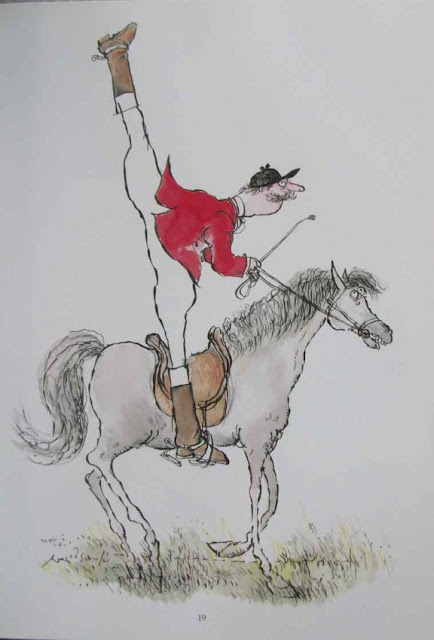 Ronald Searle illustration Frontispiece Nicely Mounted from Slightly Foxed But Still Desirable