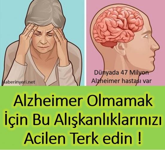 Alzheimer Hastası olmamak için bu alışkanları terk etmelisiniz. - Pratik  Tarifim