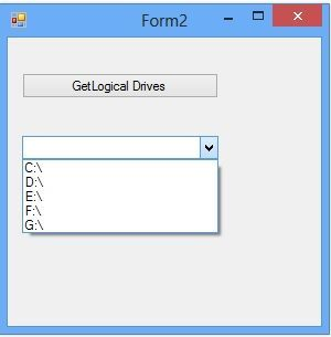 How to access system Drives in C#