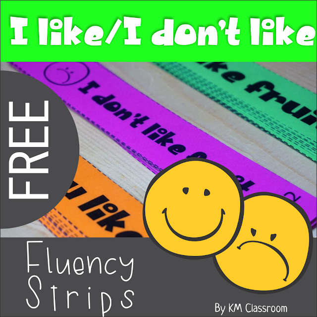 https://www.teacherspayteachers.com/Product/Emergent-Readers-I-like-I-Dont-Like-Fruit-Fluency-Strips-Freebie-3685604