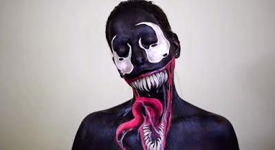 Body paint en  una mujer- Venom