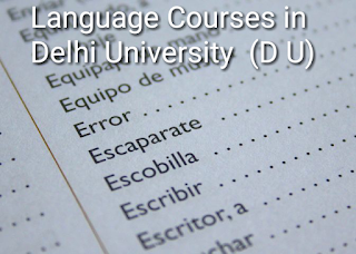 Language courses in delhi university admission