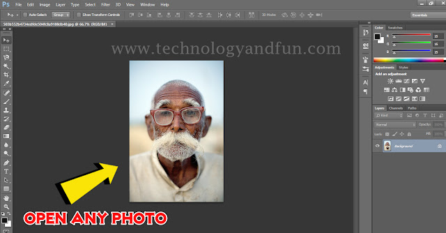 change photo size using Photoshop