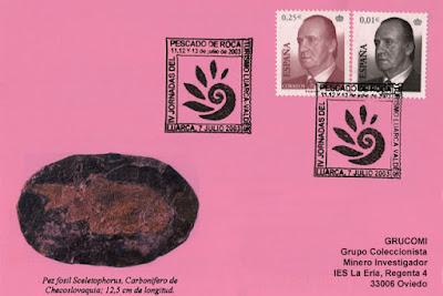 Tarjeta del matasellos de la IV Jornada del Pescado de Roca en Luarca