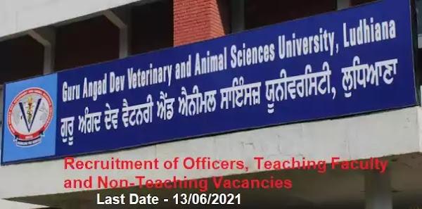 GADVASU Faculty Non-Teaching Vacancy Recruitment 2021