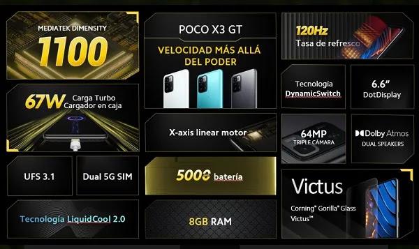 POCO X3 GT EN PERÚ