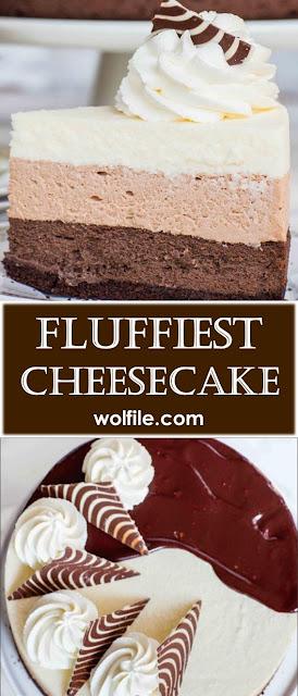 Fluffiest Cheesecake Recipe #Cheesecake #Cake