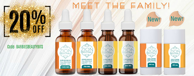 Zion Medical Hemp Cbd Oil review by top beauty blogger barbies beauty bits