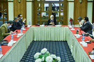 وزيرة الصحة تعقد اجتماعًا لمتابعة مستجدات العمل لتنفيذ المشروع القومي لتطوير قرى الريف المصري