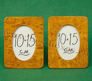 Рамочки для фотографий Овал Карельская берёза, 10х15, общая