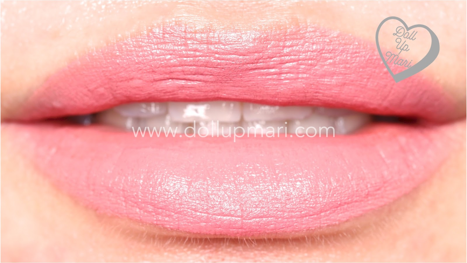 lip swatch of Pure Pink shade of AVON Perfectly Matte Lipstick