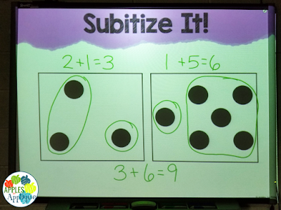 Subitize It! Number Talks for 1st Grade | Apples to Applique