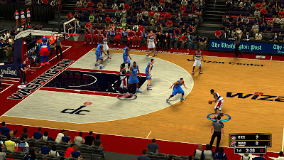 NBA 2K13 Washington Wizards HD Court Mods