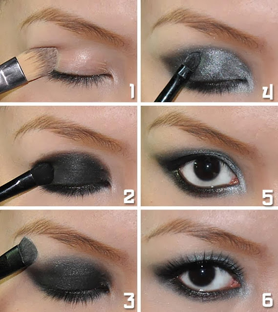 How to apply makeup for smokey eyes