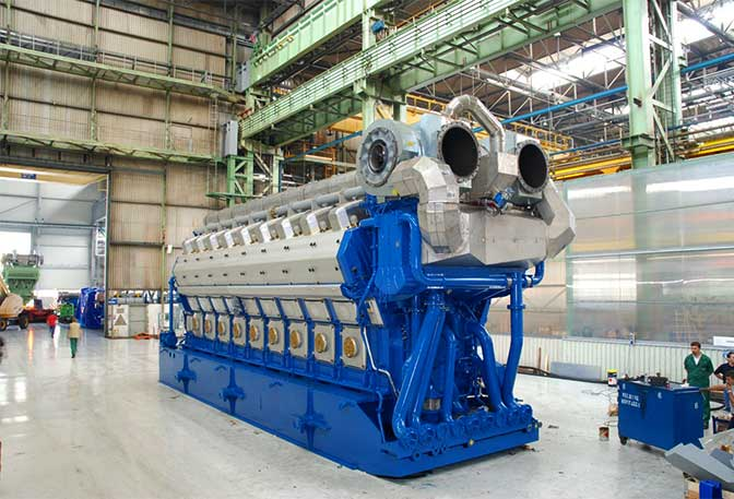 Wärtsilä 50DF gas engine unit