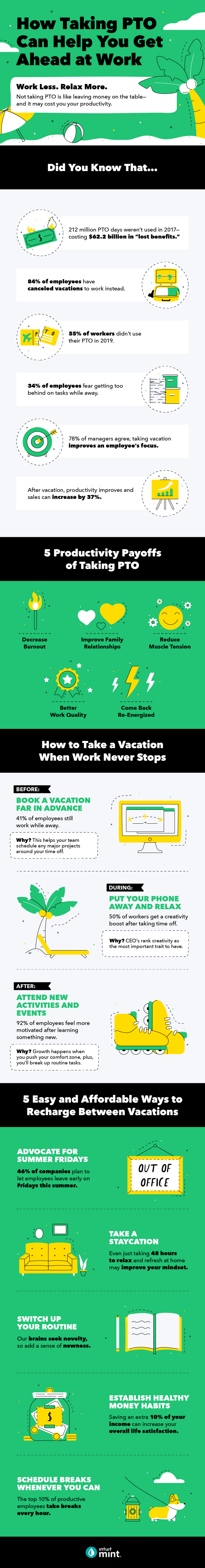 How to take advantage of PTO at Work # infographic