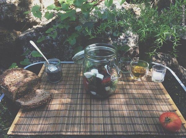 Recette Salad jar de haricots verts parsemés de graines de chia Markal