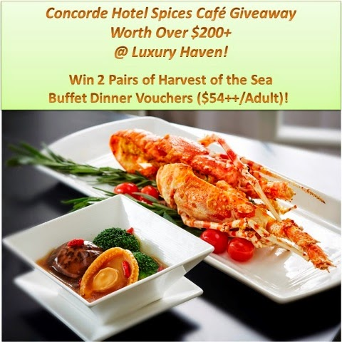 concorde hotel spices cafe buffet vouchers giveaway