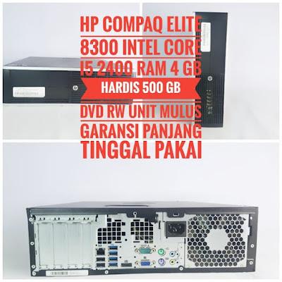 PC HP Compaq Elite Desktop 8300 i5 2400 Siap Di Order