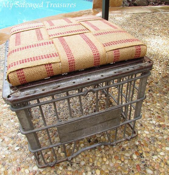 trash to treasure milk crate repurposed stool