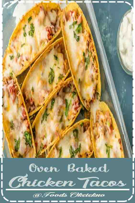 4.8 ★★★★★ | This Easy Oven Baked Chicken Tacos Recipe is PERFECT for a quick weeknight dinner! OVEN BAKED chicken tacos have lots of flavor and none of the stress. This Easy Chicken Tacos Recipe is the most popular recipe on The Cookie Rookie and has been pinned over 2 million times. Have you tried it? #Oven Baked Chicken Tacos #Dinner #Recipes #Easy #Chicken #For two #Oven Baked